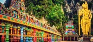 Batu caves of Batugrotten in Maleisië