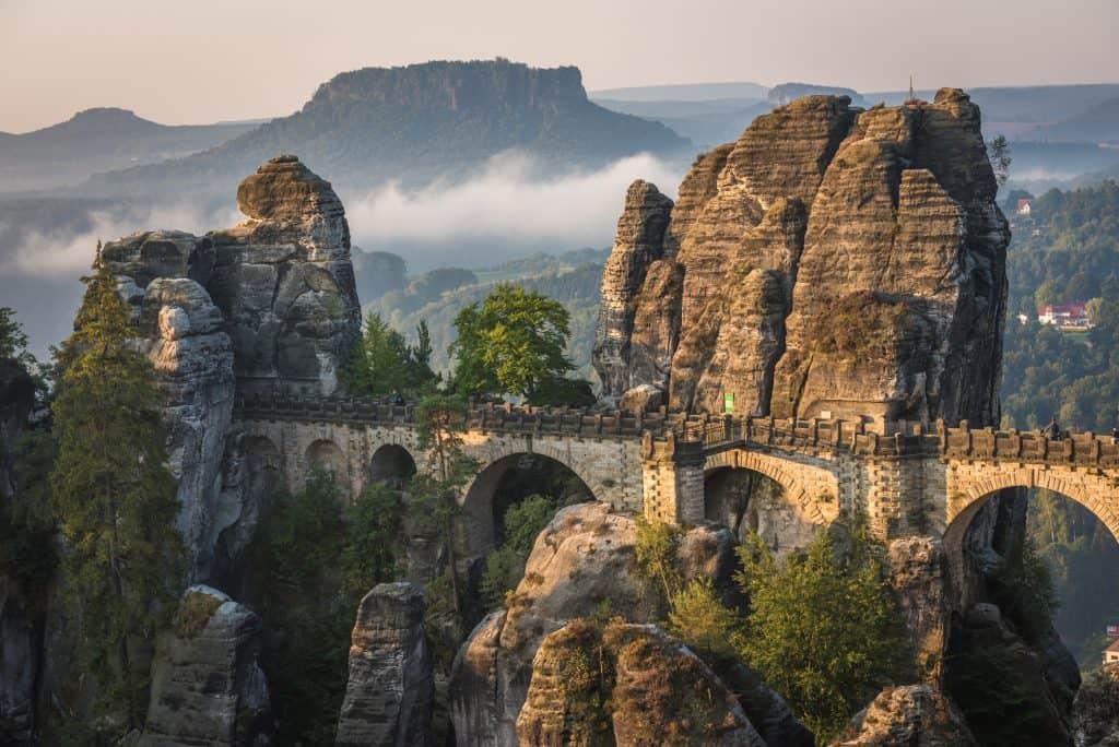 Bastei brug in Saksen, Duitsland