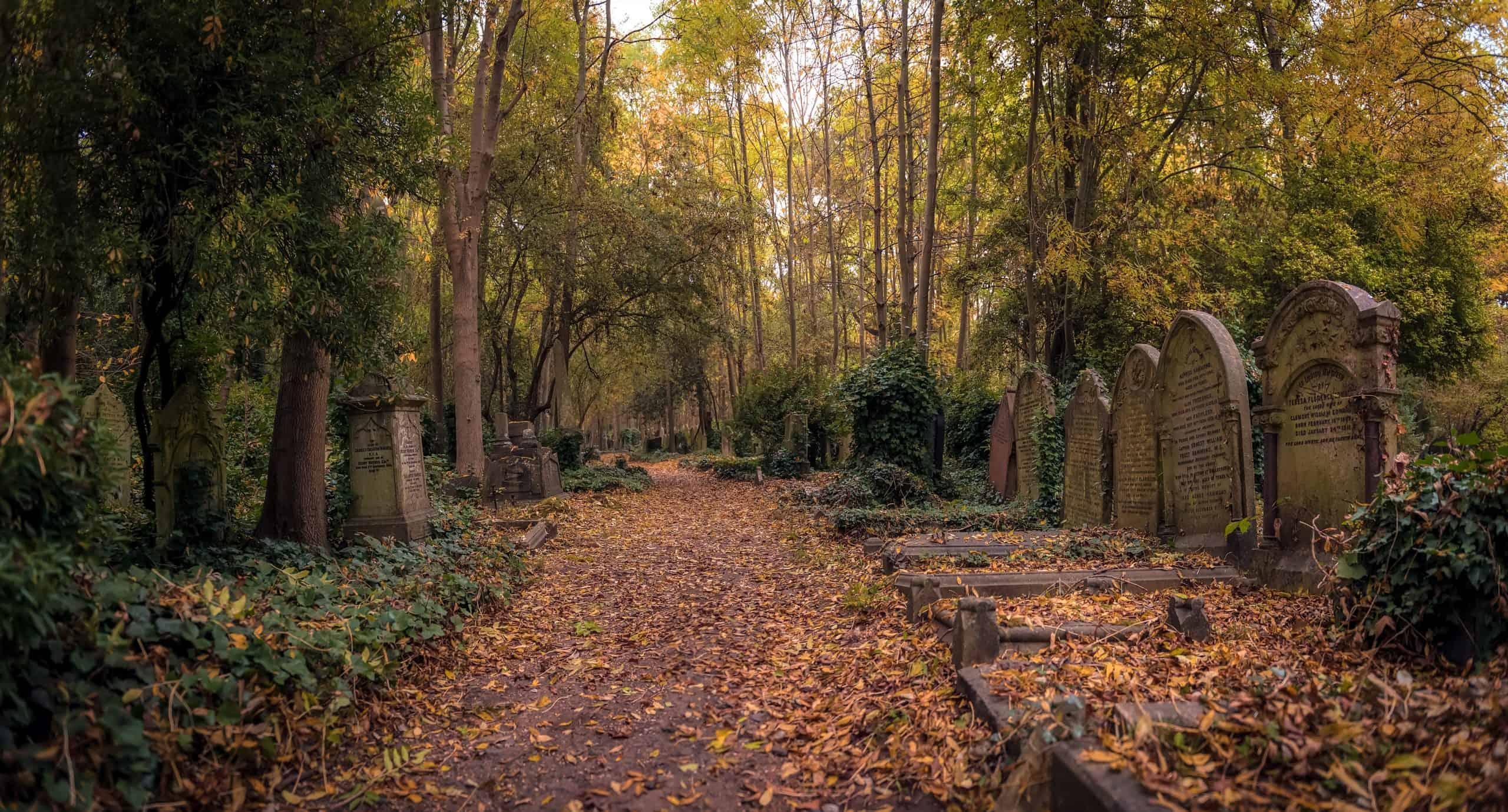 Highgate cemetery begraafplaats in Londen