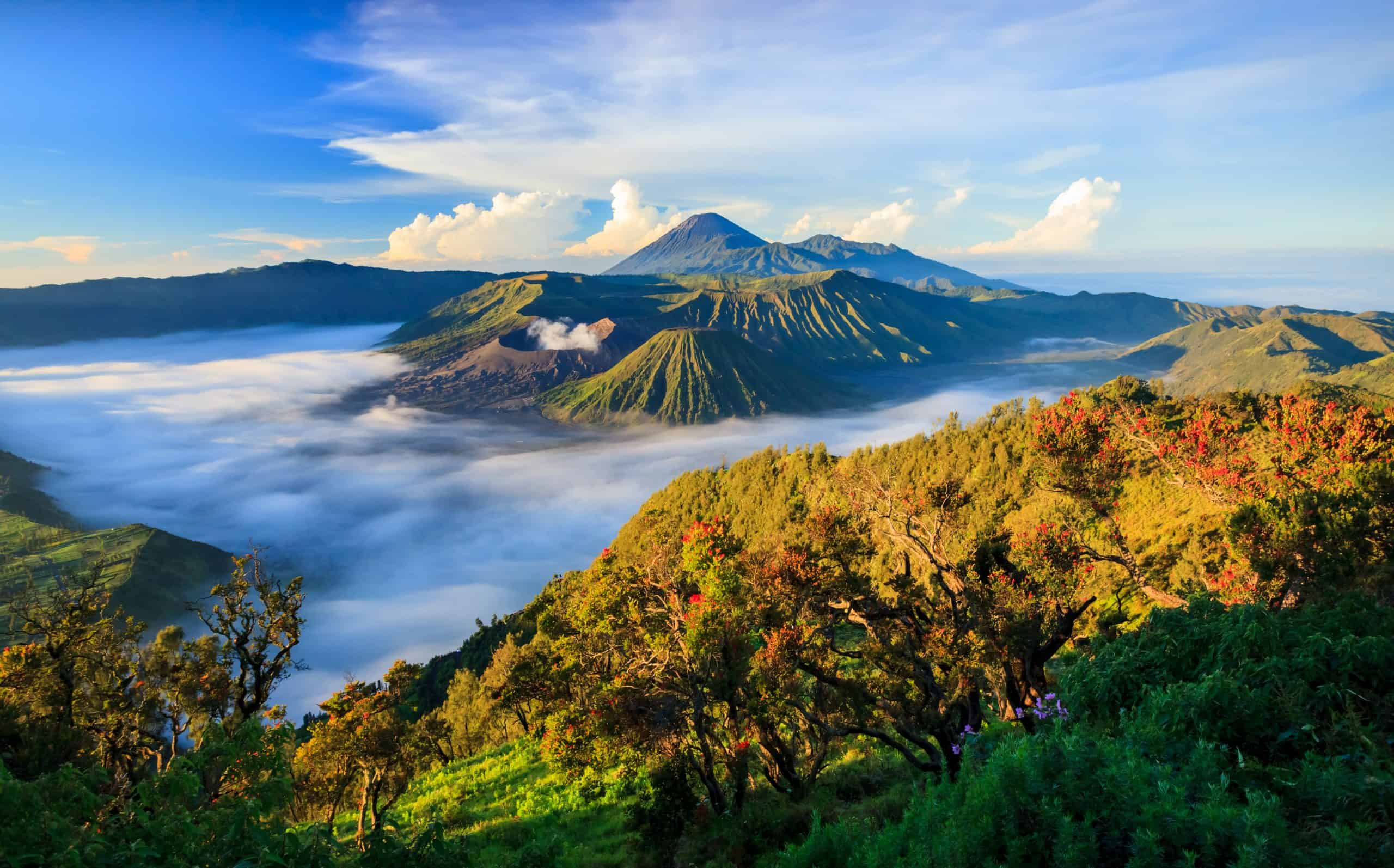 Bromo vulkaan op Java in Indonesië