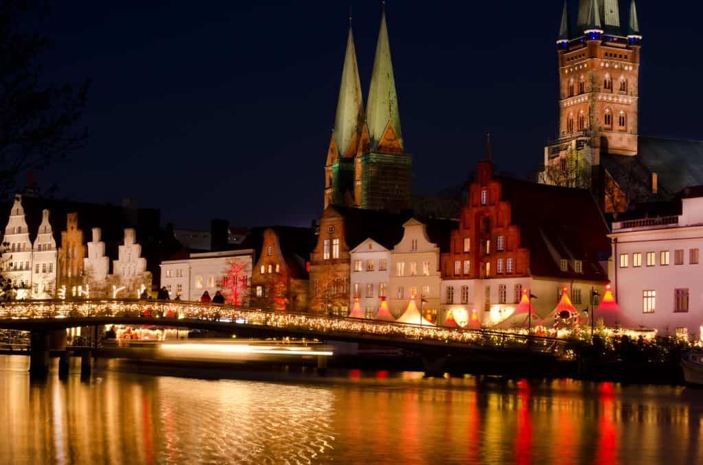 Kerst in Lubeck, Duitsland