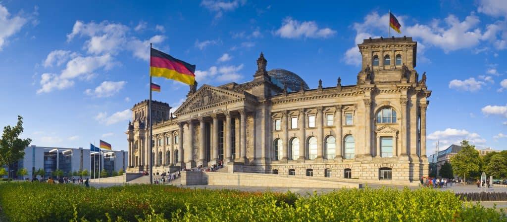 Reichstag of Rijksdag in Berlijn, Duitsland