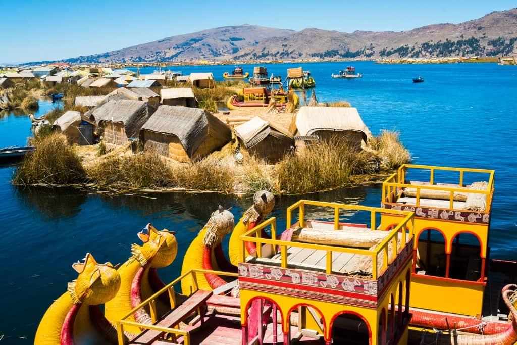 Uros eilanden in het Titicameer