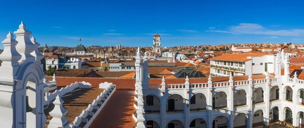 Centrum van Sucre in Bolivia