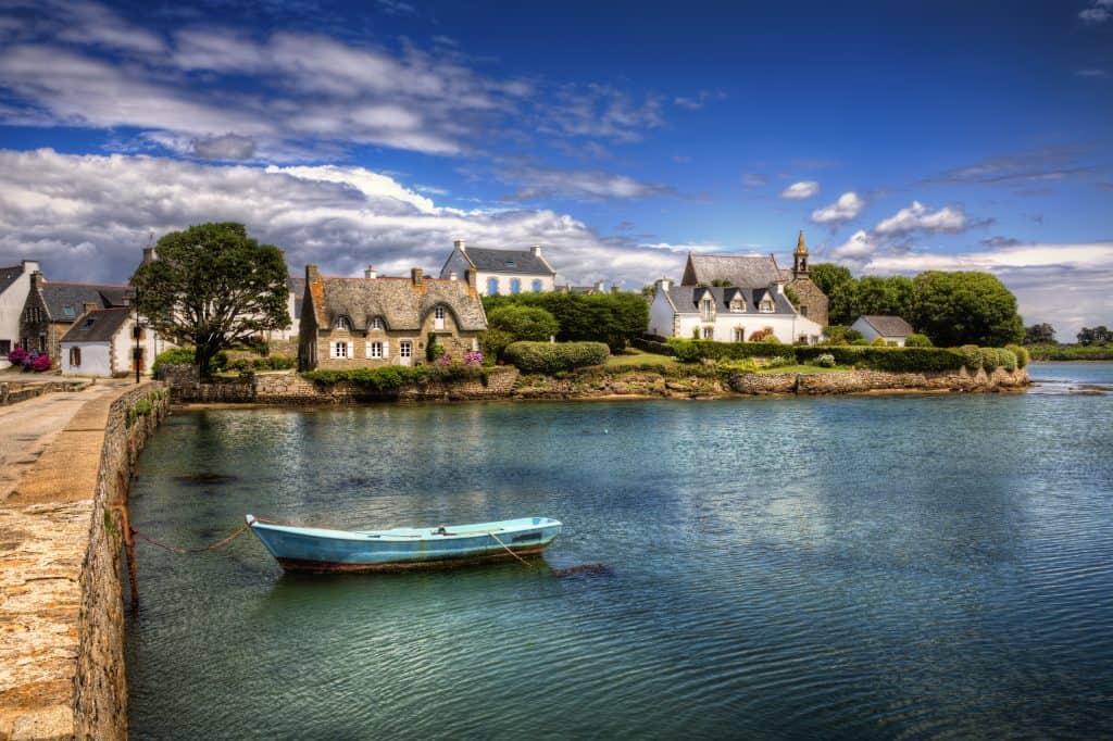 Saint-Cado aan de golf van Morbihan, Bretagne