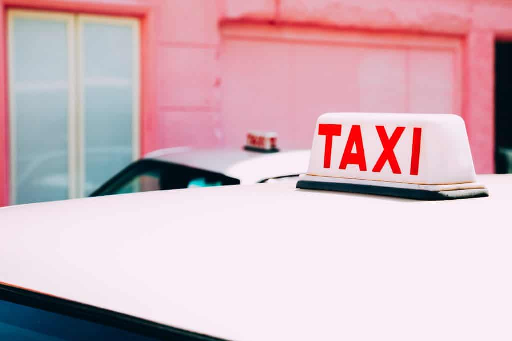 Roze taxi in Hong kong