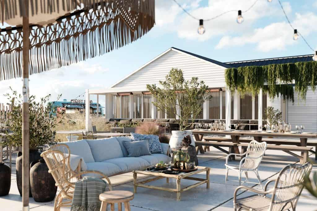 Terras van de beach club