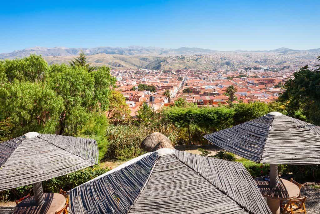 Uitzicht vanuit het La Recoleta klooster