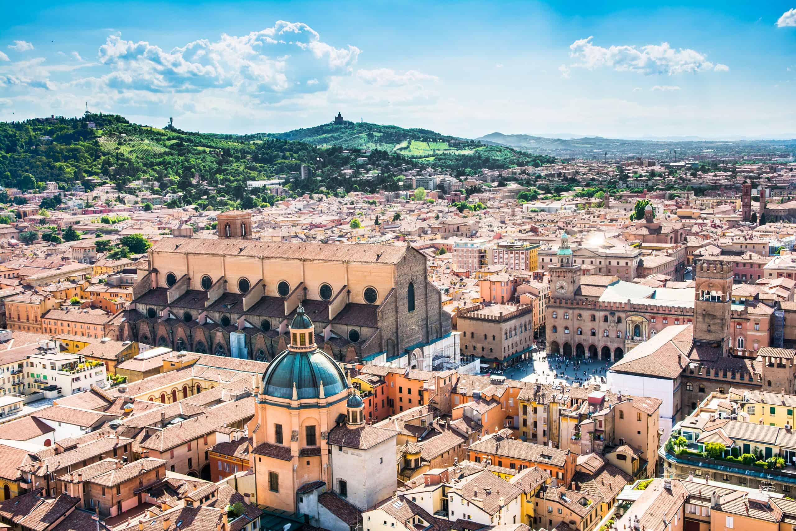 Historisch centrum van Bologna in Emilia-Romagna