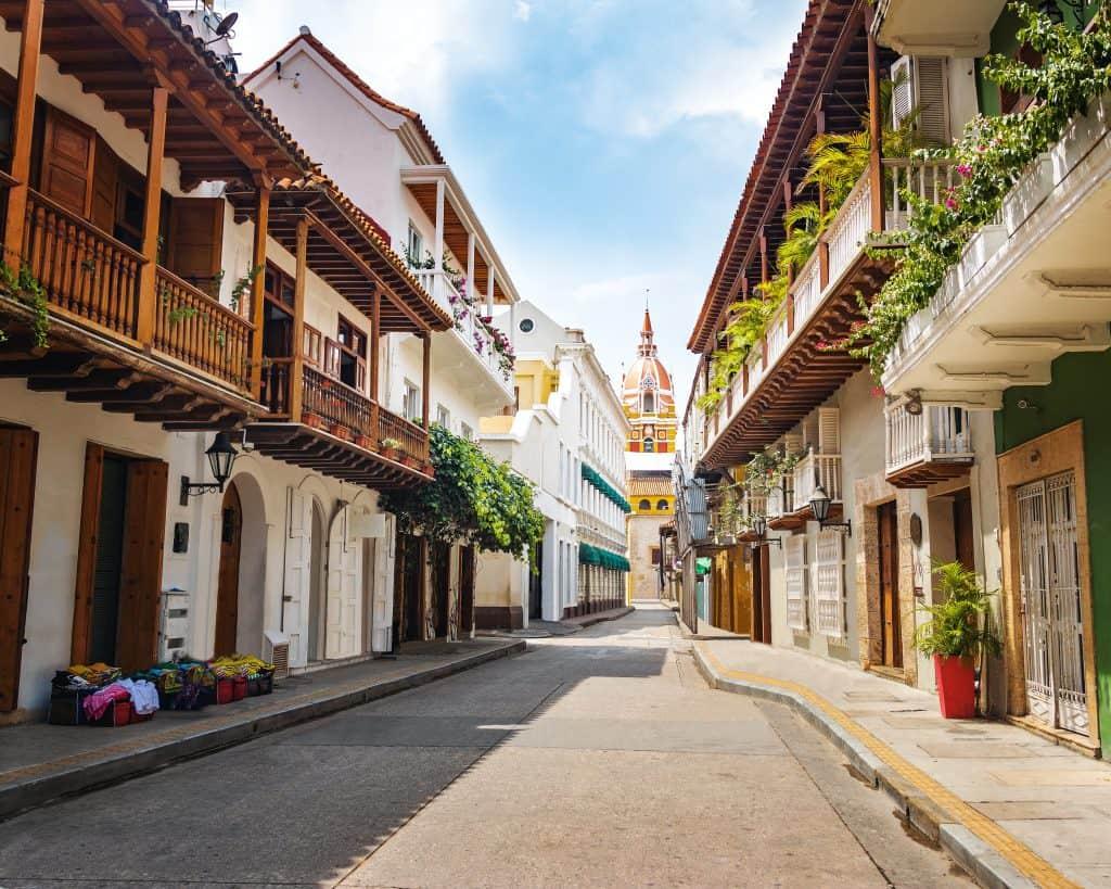 Oude centrum van Cartagena in Colombia