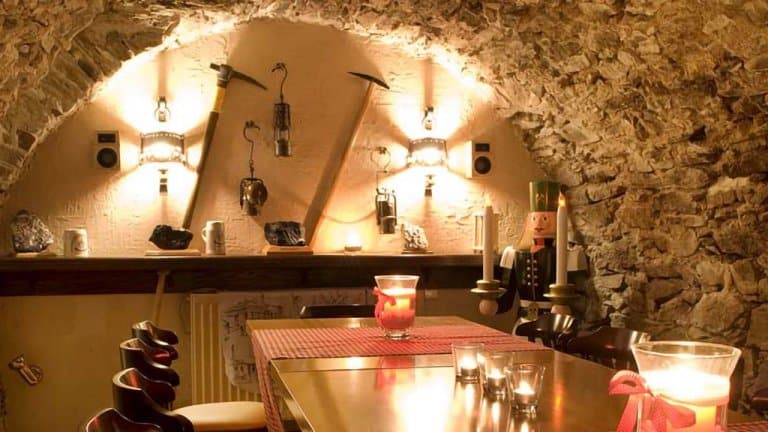 Restaurant van hotel Sonne Erzgebirge in Duitsland