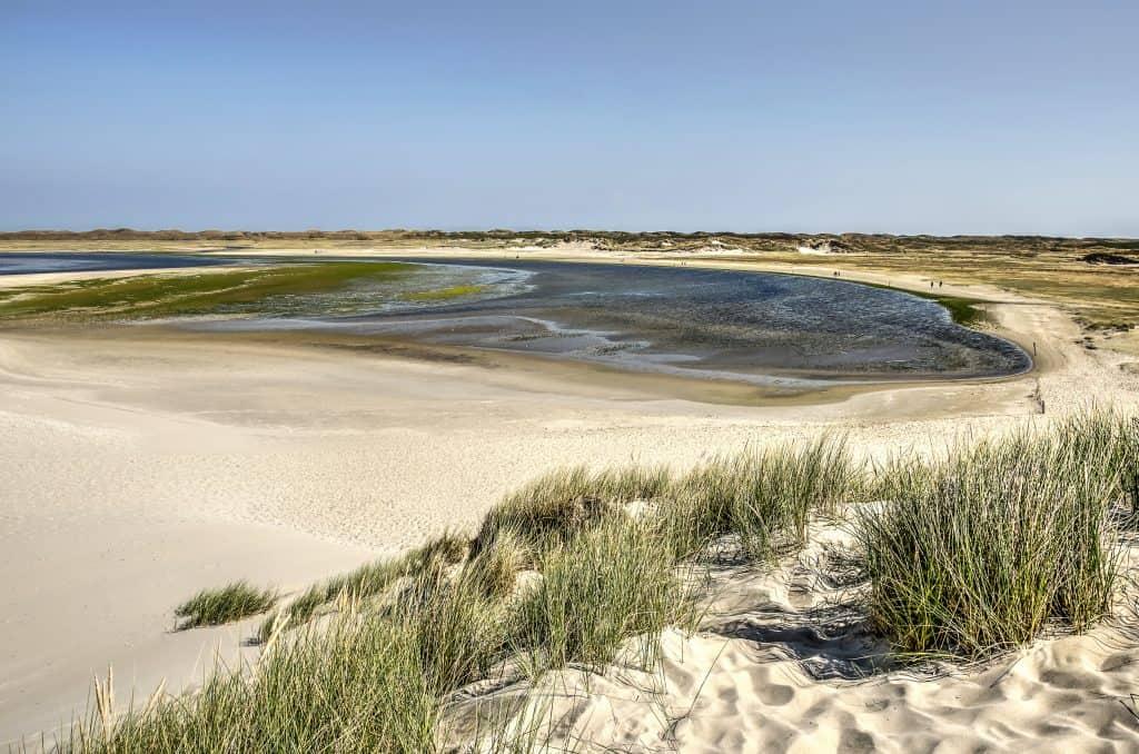 Slufter gebied op Texel