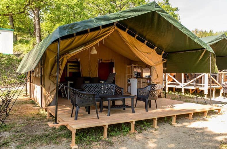 Tent van Camping 't Veld Rheeze