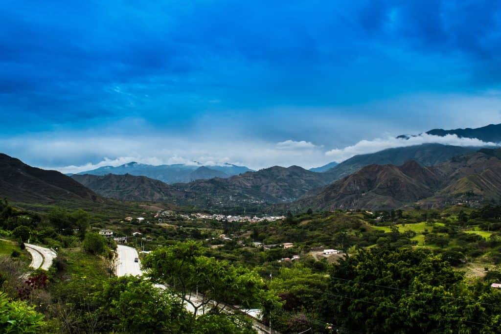 Uitzicht op de vallei van Vilcabamba