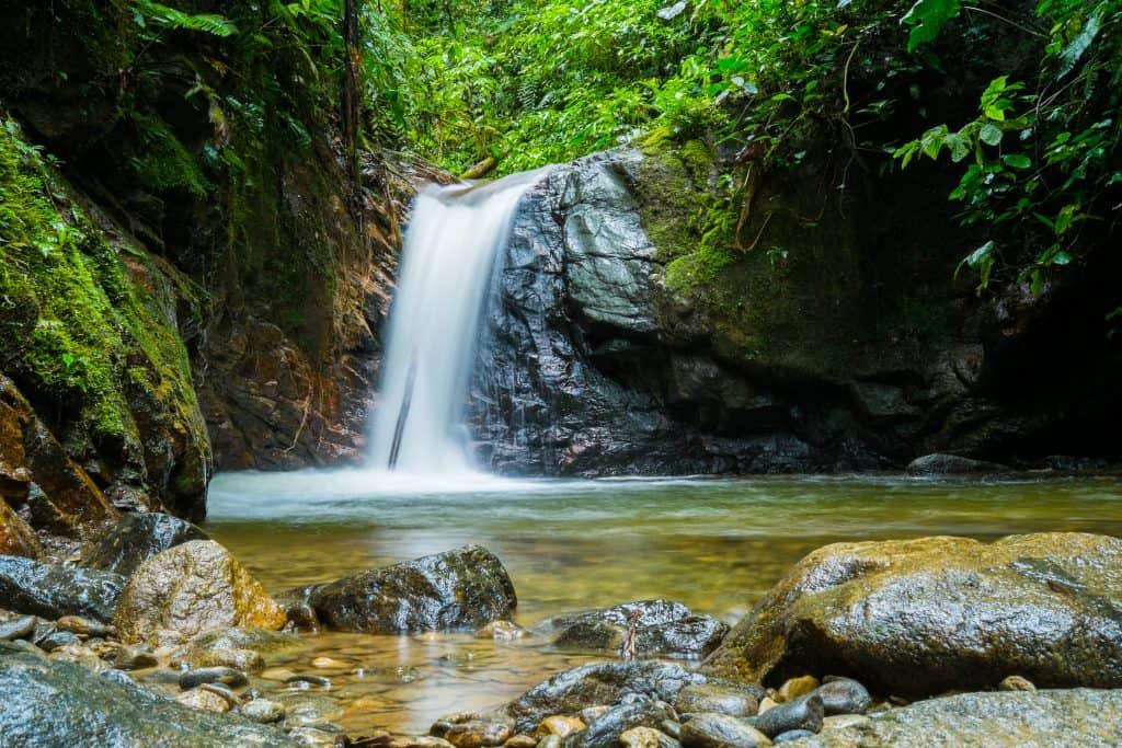 Waterval in Nationaal Park Podocarpus, Ecuador