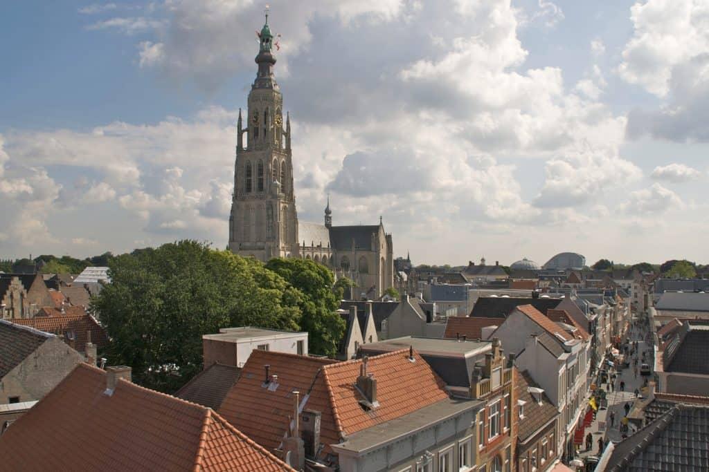 Centrum van Breda in Noord-Brabant