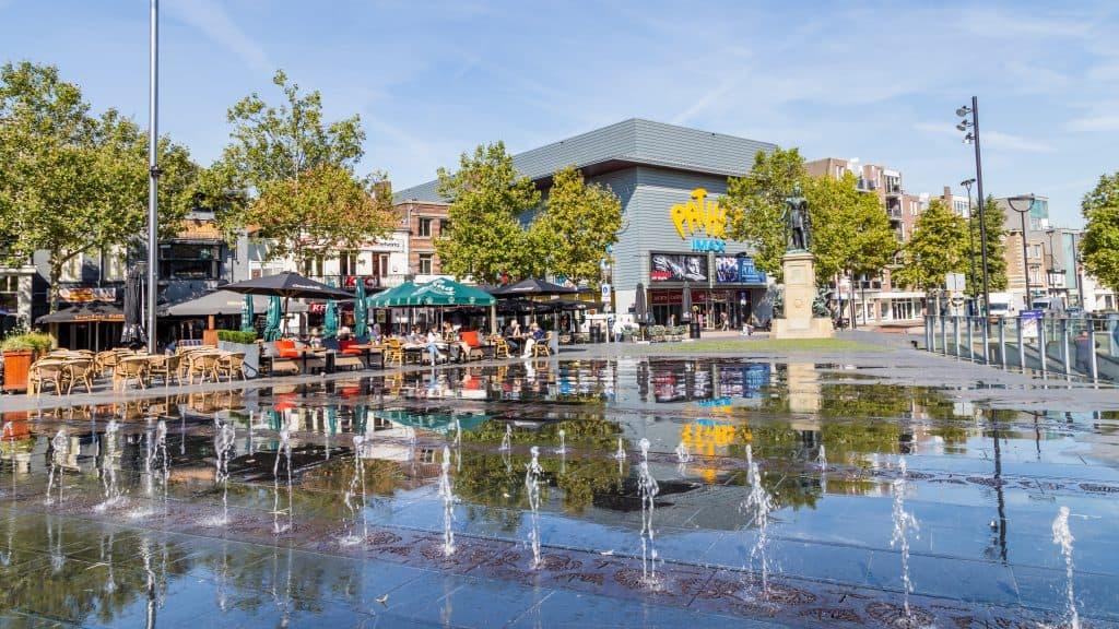 Centrum van Tilburg in Noord-Brabant