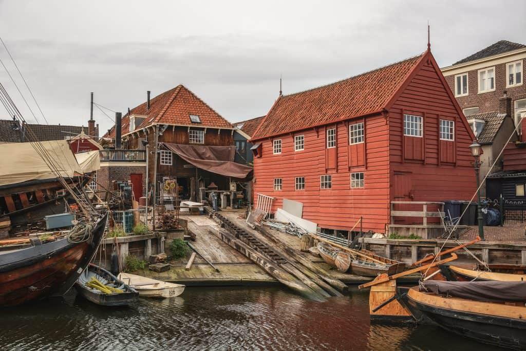 De oude haven van Spakenburg, Utrecht