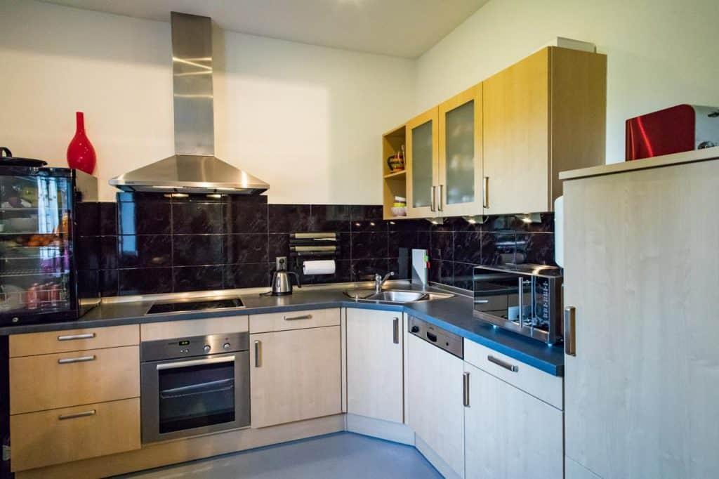 Gezamelijke keuken van luxe bed and breakfast het colmerhof