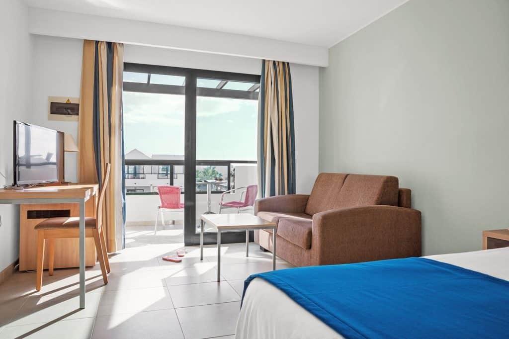 Hotelkamer van hotel Pocillos Playa op Lanzarote