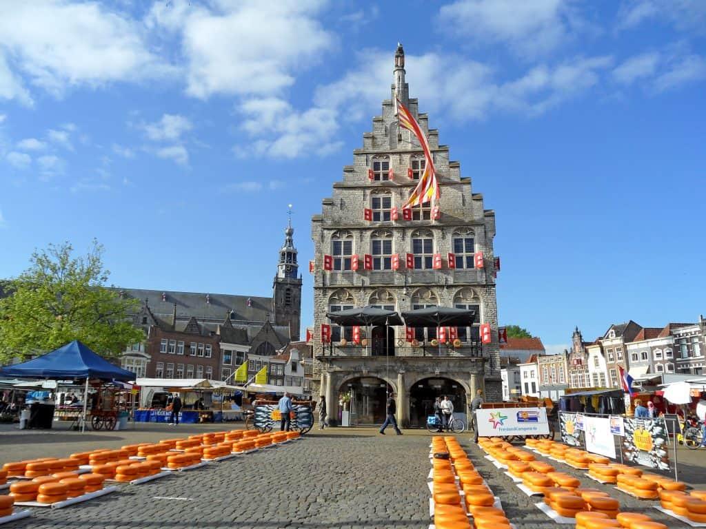 Kaasmarkt in Gouda, Zuid-Holland