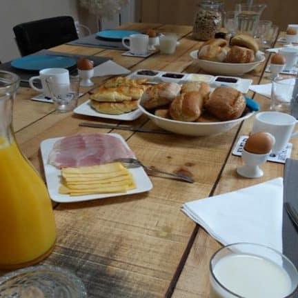 Ontbijt van luxe bed and breakfast het colmerhof