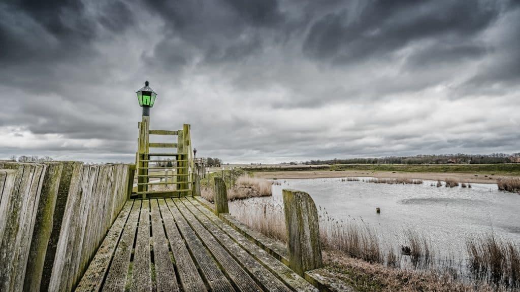 Oude haven van Schokland in Flevoland
