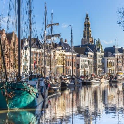 Uitzicht over de stad Groningen