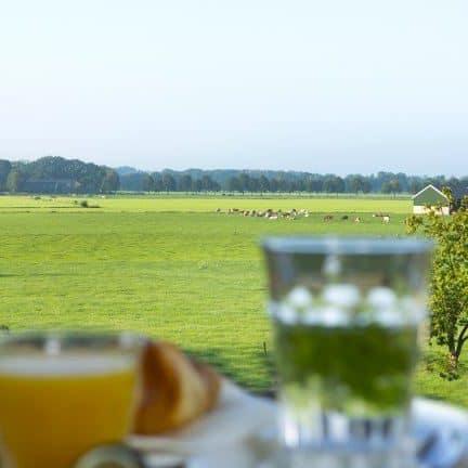Uitzicht op terras van Hotel Zonneheuvel