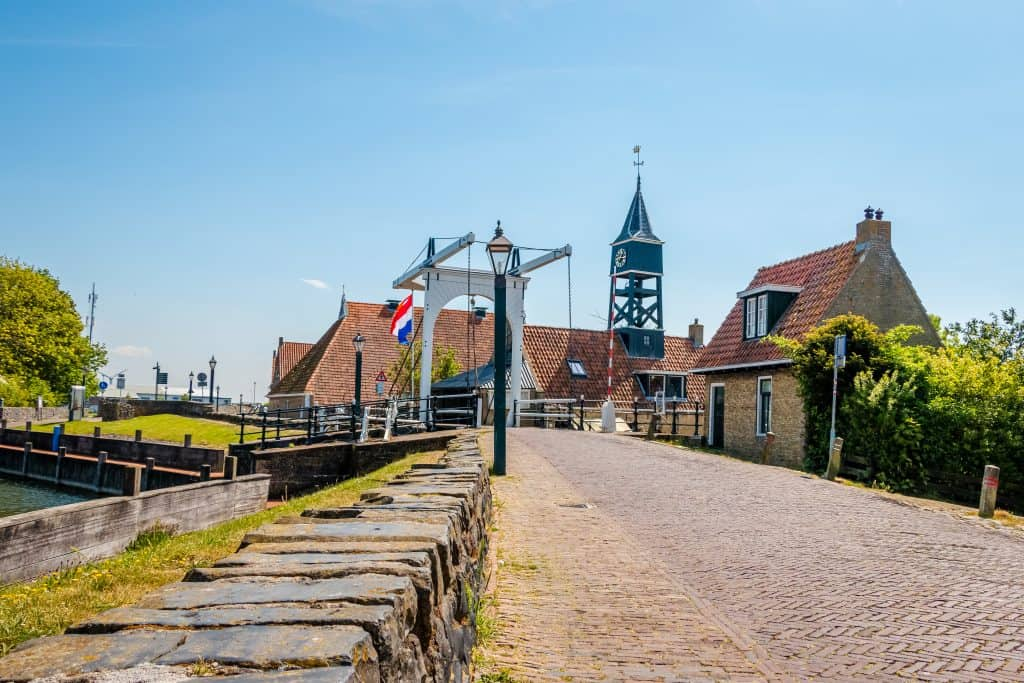 Brug in Hindeloopen, Friesland