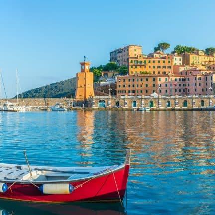 Haven van Rio Marina op Elba, Toscaanse Archipel