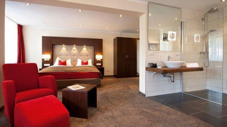 Hotelkamer van Boutique Hotel Villa Melsheimer