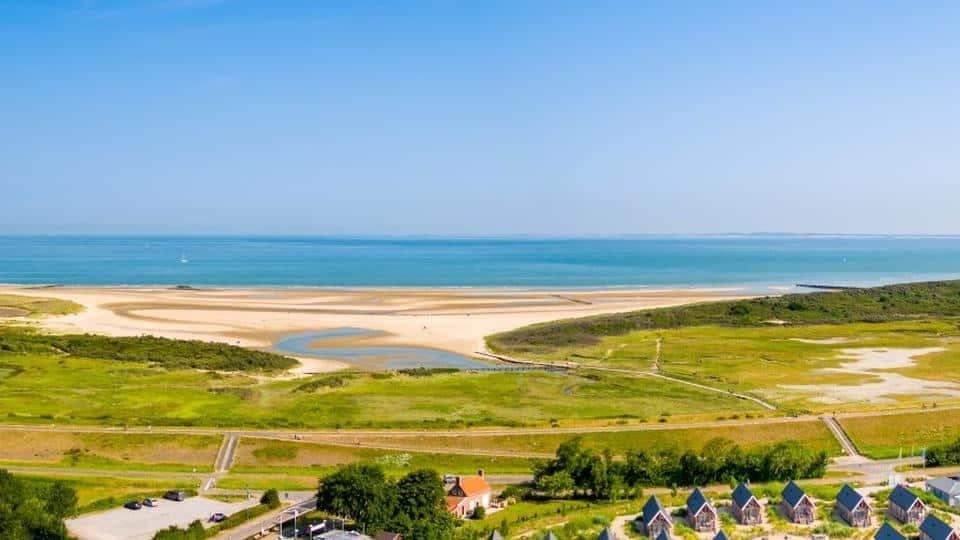 Ligging van Roompot Beach Resort Nieuwvliet-Bad