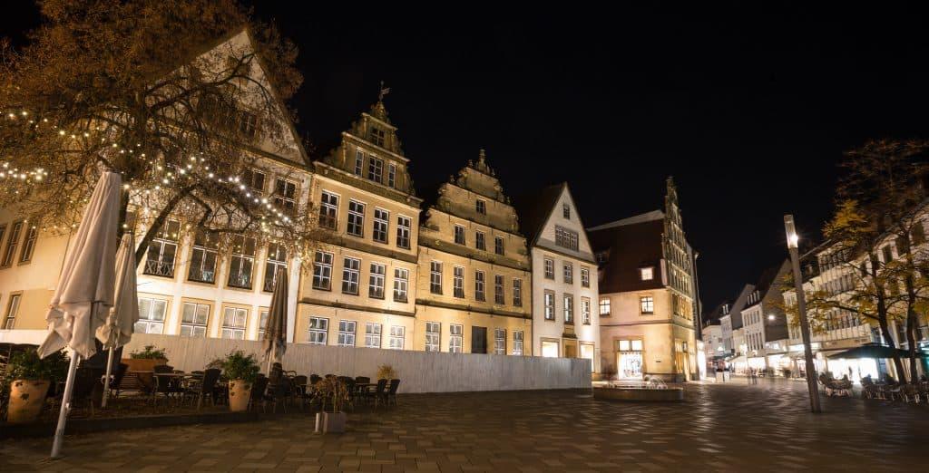 Oude centrum van Bielefeld in Duitsland