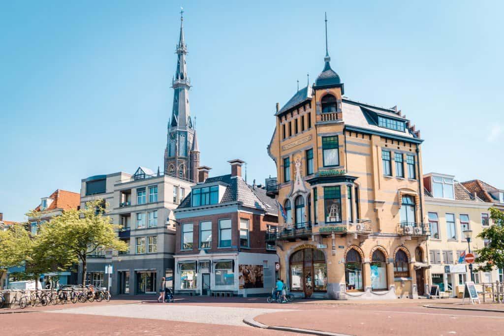 Oude centrum van Leeuwarden in Friesland