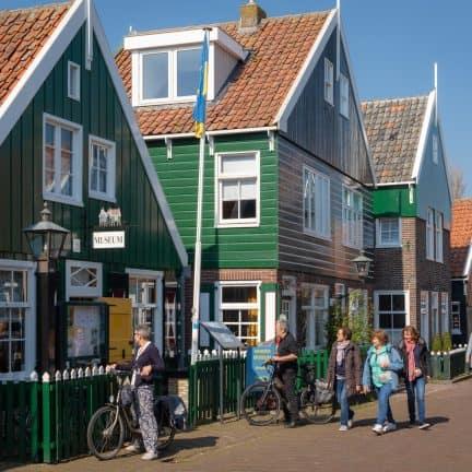 Oude huizen in Marken, Noord-Holland