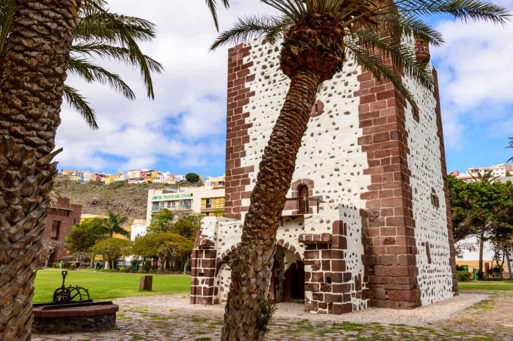 oude toren in San Sebastian de La Gomera