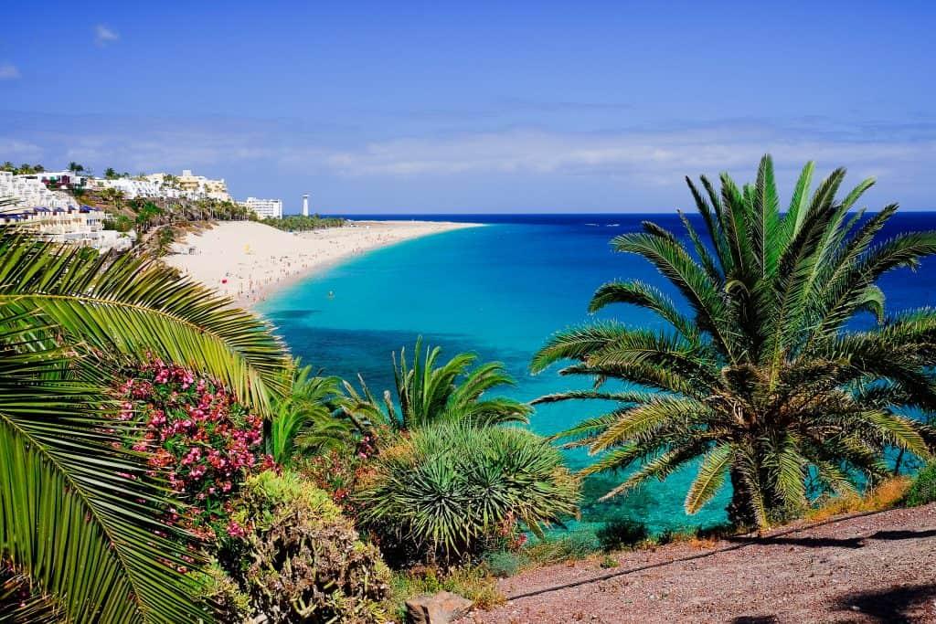 Playa de Morro Jable op Fuerteventura