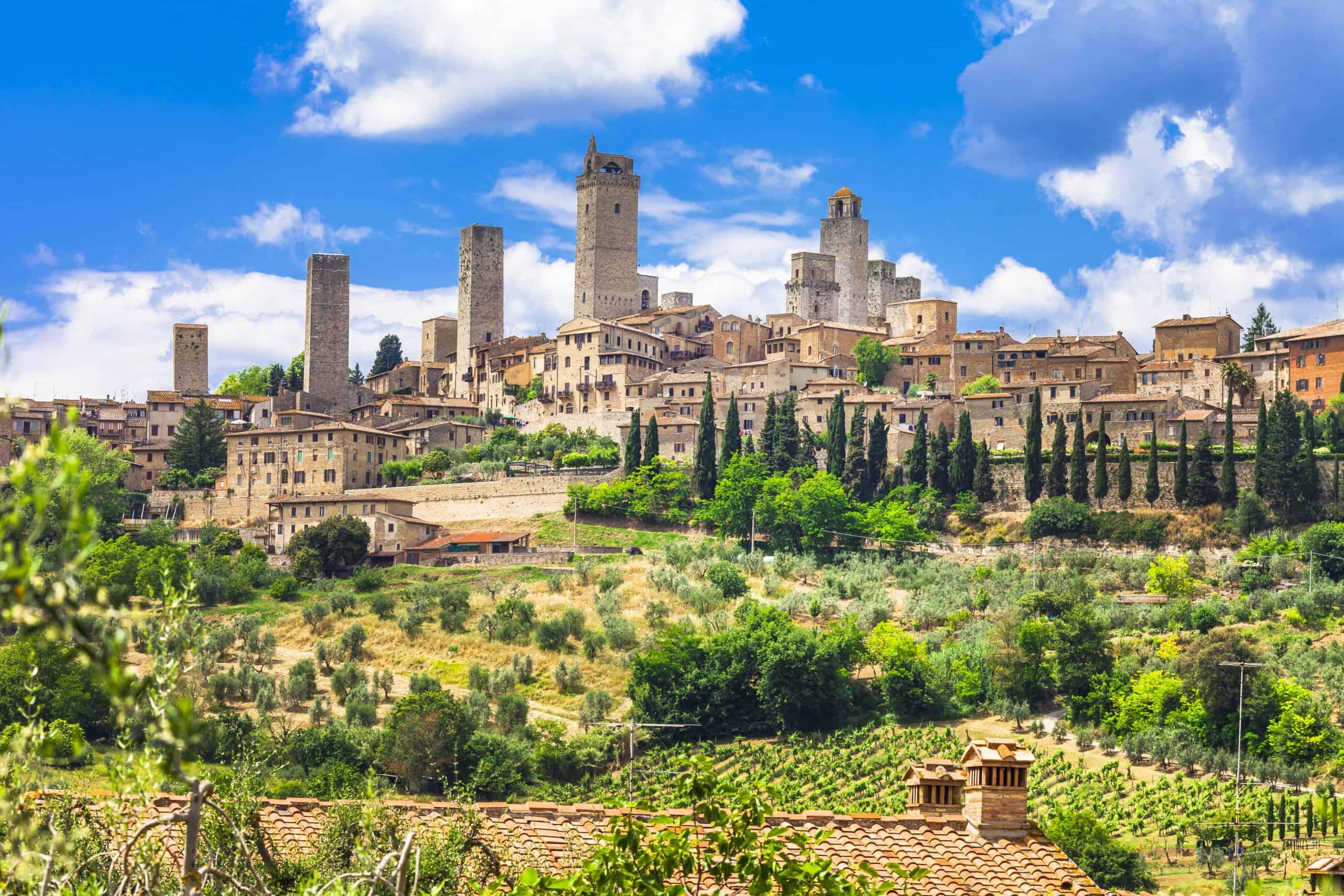 San Gimignano is Toscane, Italië