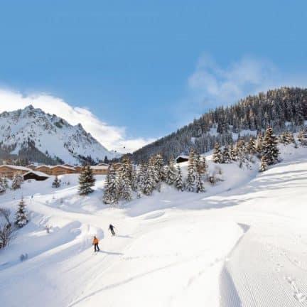 Skipiste in de Gargellen, Oostenrijk