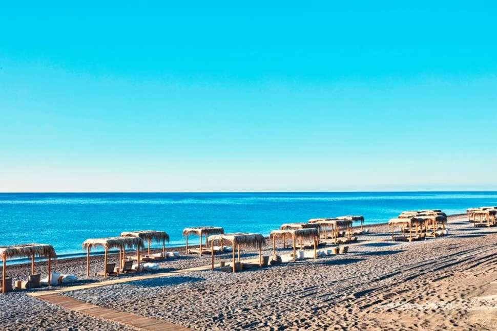 Strand van Gennadi op Rhodos, Griekenland