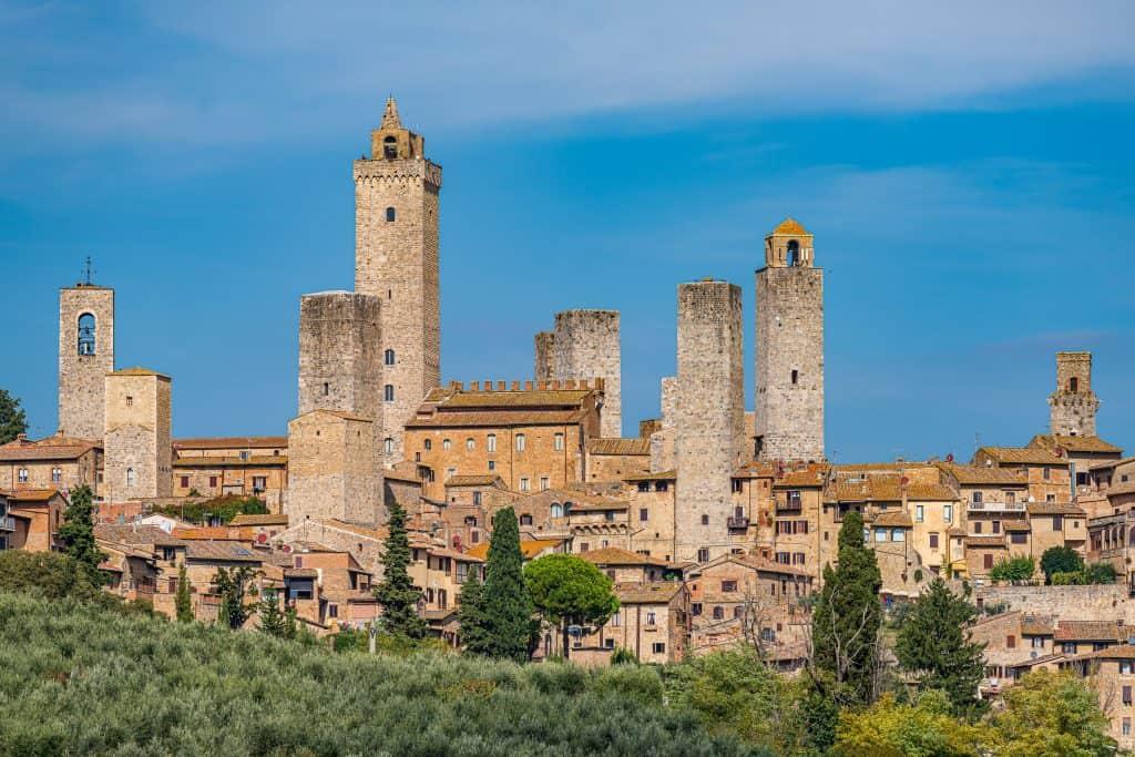 Uitzicht over de torens van San Gimignano
