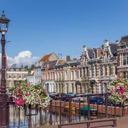 Binnenstad van Haarlem in Noord-Holland