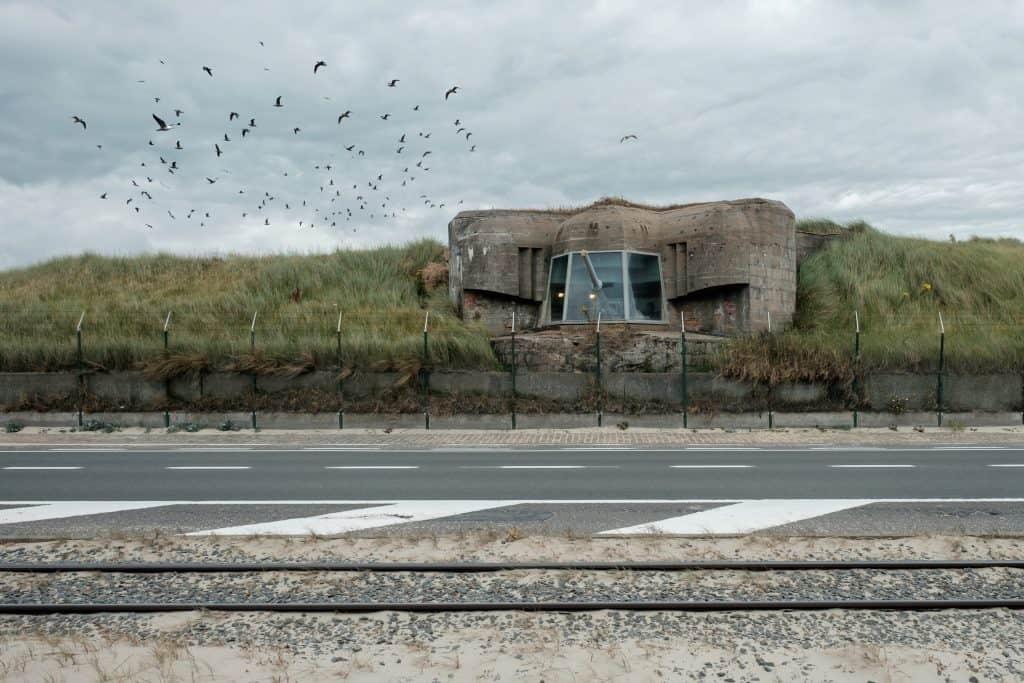 Bunker in openlucht museum Raversijde