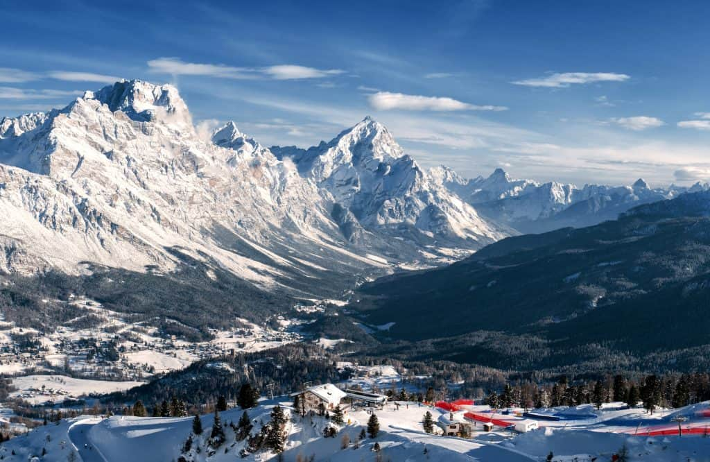 Cortina d'Ampezzo in Italie