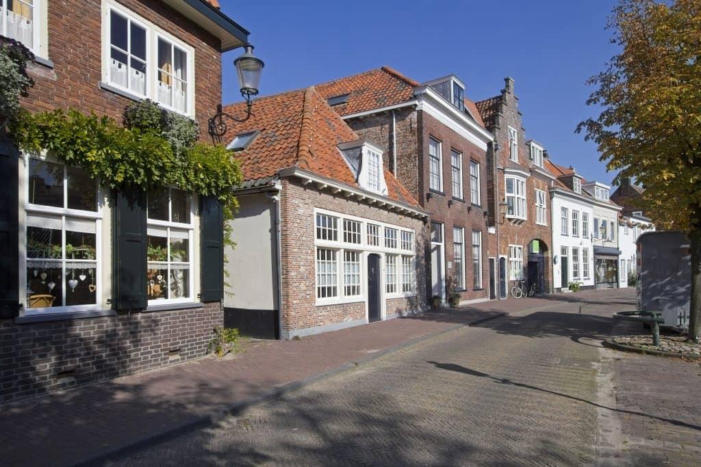 Historische gebouwen in de binnenstad van Amersfoort