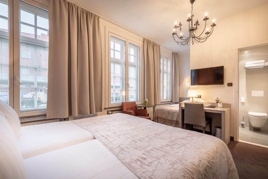 Hotelkamer van Hotel Albert 1