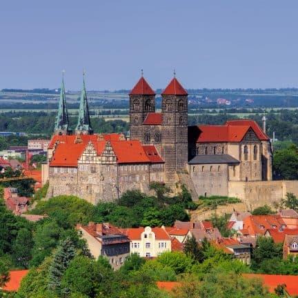 kasteel Quedlinburg in de Harz, Duitsland