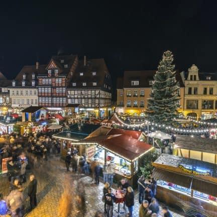 kerstmarkt van Quedlinburg in Duitsland