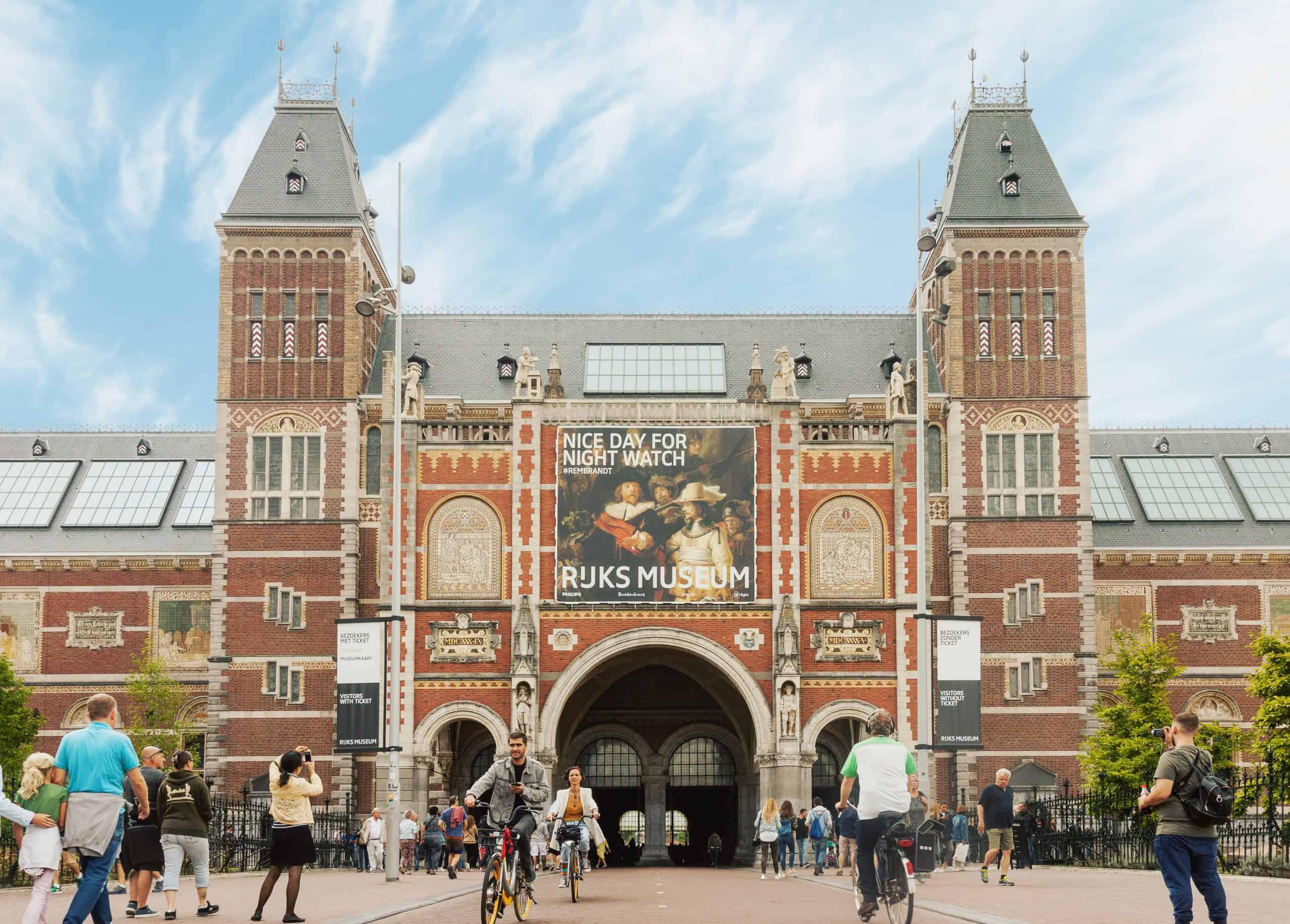 Rijksmuseum aan de voorzijde